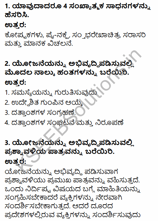 1st PUC Economics Question Bank Chapter 9 Uses of Statistical Methods in Kannada 6