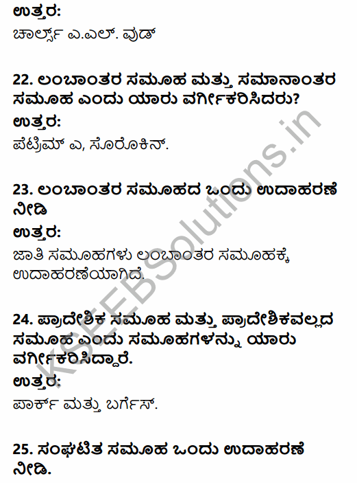 1st PUC Sociology Question Bank Chapter 2 Basic Concepts in Kannada 6