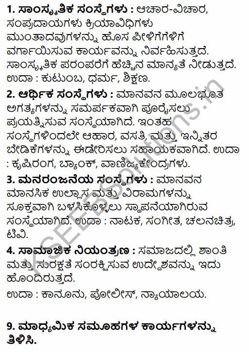 1st PUC Sociology Question Bank Chapter 3 Social Process in Kannada 29