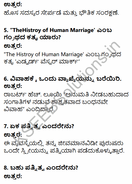 1st PUC Sociology Question Bank Chapter 5 Social Institutions in Kannada 2