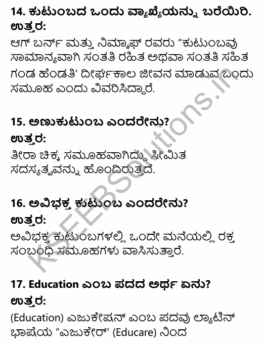 1st PUC Sociology Question Bank Chapter 5 Social Institutions in Kannada 5