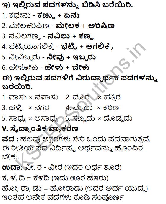 Tili Kannada Text Book Class 6 Solutions Nataka Chapter 1 Kodi Nanna Balyava 8