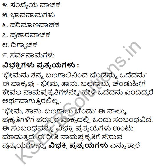Tili Kannada Text Book Class 8 Vyakarana Namapada - Vibhakti Pratyaya Galu 2