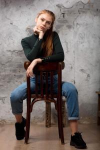 beautiful model red hair photo