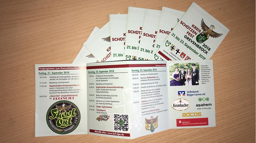 Neue Flyer zum Kreisschützenfest