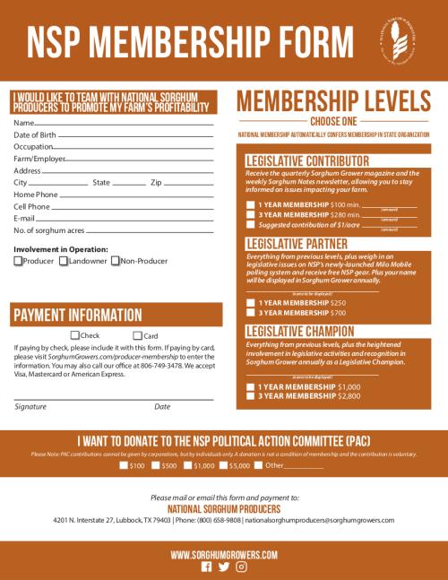KGSPA/NSP Membership Form