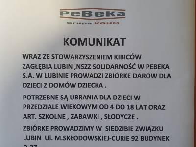 """""""Solidarność"""" w PeBeKa współorganizuje zbiórkę"""