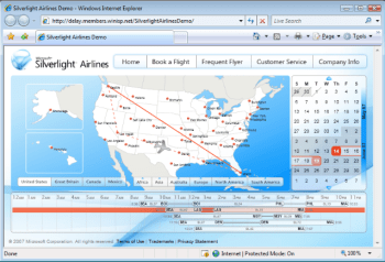 Cool silverlight airline demo
