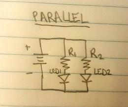 Schematic diagram for parallel circuit