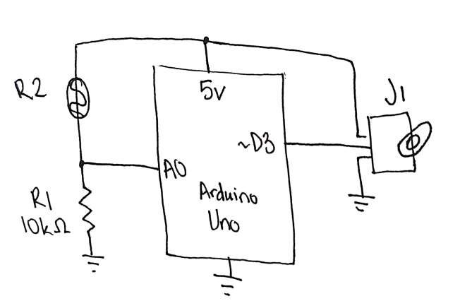 Schematic diagram of circuit