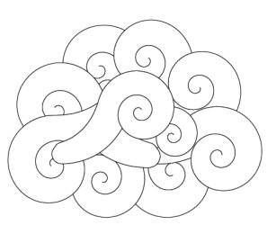 I created spirals and arranged them in illustrator
