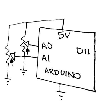 Schematic drawing of circuit