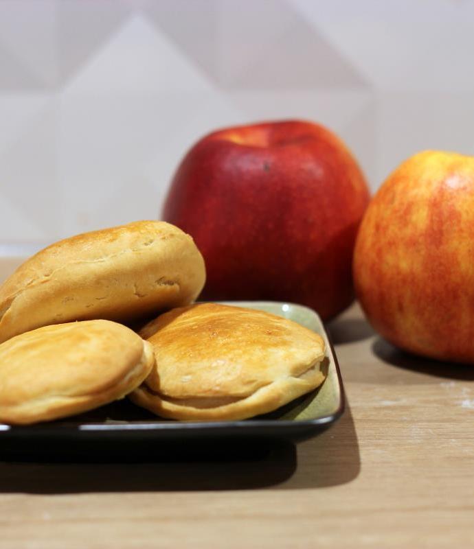 Pieczone racuchy z jabłkami – Appelbeignet