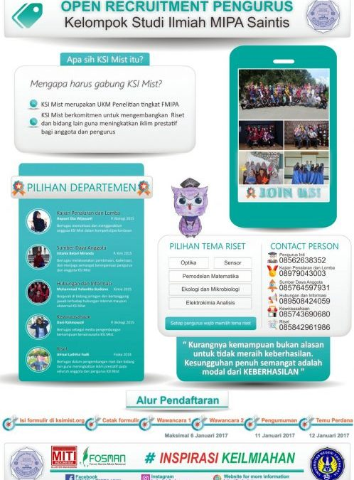 OPEN RECRUITMENT PENGURUS KSI MIST 2017