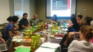 Getting to know you: KSJ Fellows met with the KSJ staff last week.