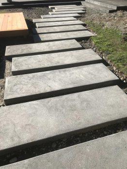 Stepping concrete path(black oxide sponge finish)