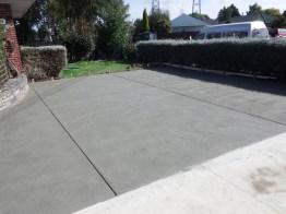 Plain sponge finish concrete car park