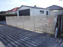 Horizontal batten fence