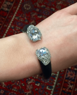 Bittar sparkle hinged bangle