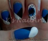 Estonian Flag Inspired Nails