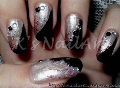 Black and white rhinestones