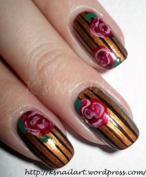 stripes-and-roses-nail-art-2
