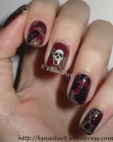 Splatter Nails for Halloween