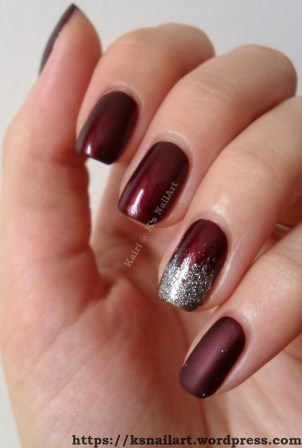 Classy Red Nails