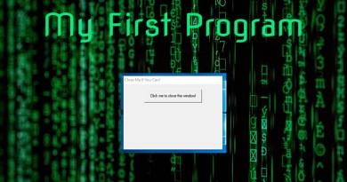 My First Program