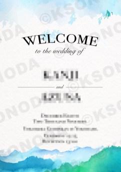 Wedding Welcome Board-2