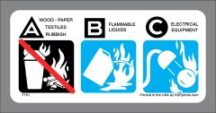 BC Extinguisher use label