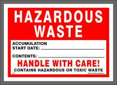 HAZARDOUS WASTE decal