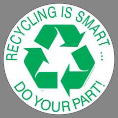 Round Recycling Stickers