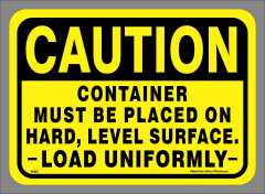 Caution Hard Level Surface Decal