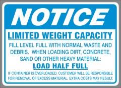 Load Half Full Decal