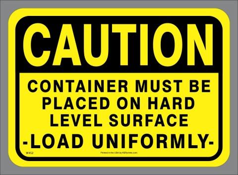 Large Waste Tipping Hazard Sticker