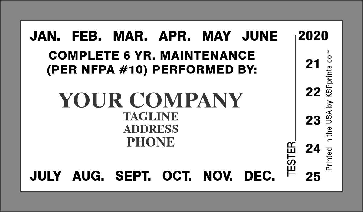 F117 6-YR Maintenance label