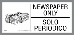 Bilingual newspaper only sticker