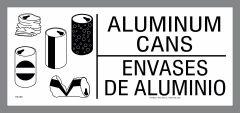 Bilingual Aluminum Can Recycling Sticker