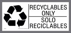 bilingual recyclables sticker