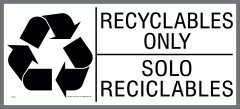 large bilingual RECYCLABLES ONLY sticker