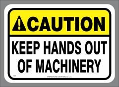 Keep Hands Out Sticker