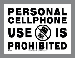 Cell Phones Prohibited Sticker