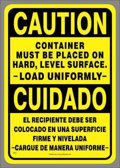 Bilingual Load Uniformly Decal