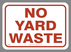 NO YARD WASTE decal