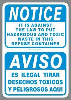 No Hazardous or Toxic Waste decal