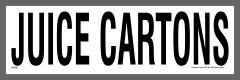 Juice Carton Recycling Stickers