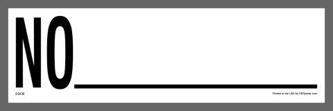 No _ Container Sticker