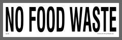 No Food Waste Sticker