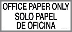 Bilingual Sticker for Office Paper Bin